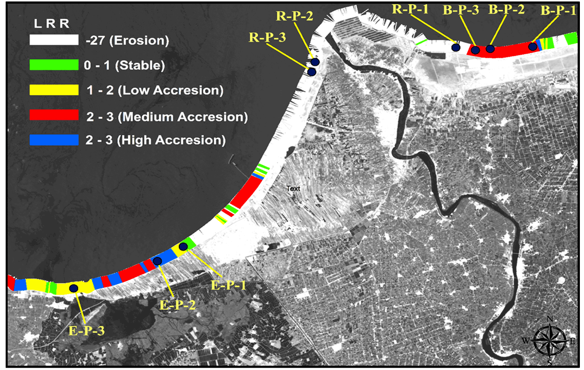 Coastal Stability using Remote Sensing and Radioactive Materials in the Northwest Nile Delta Coast, Egypt