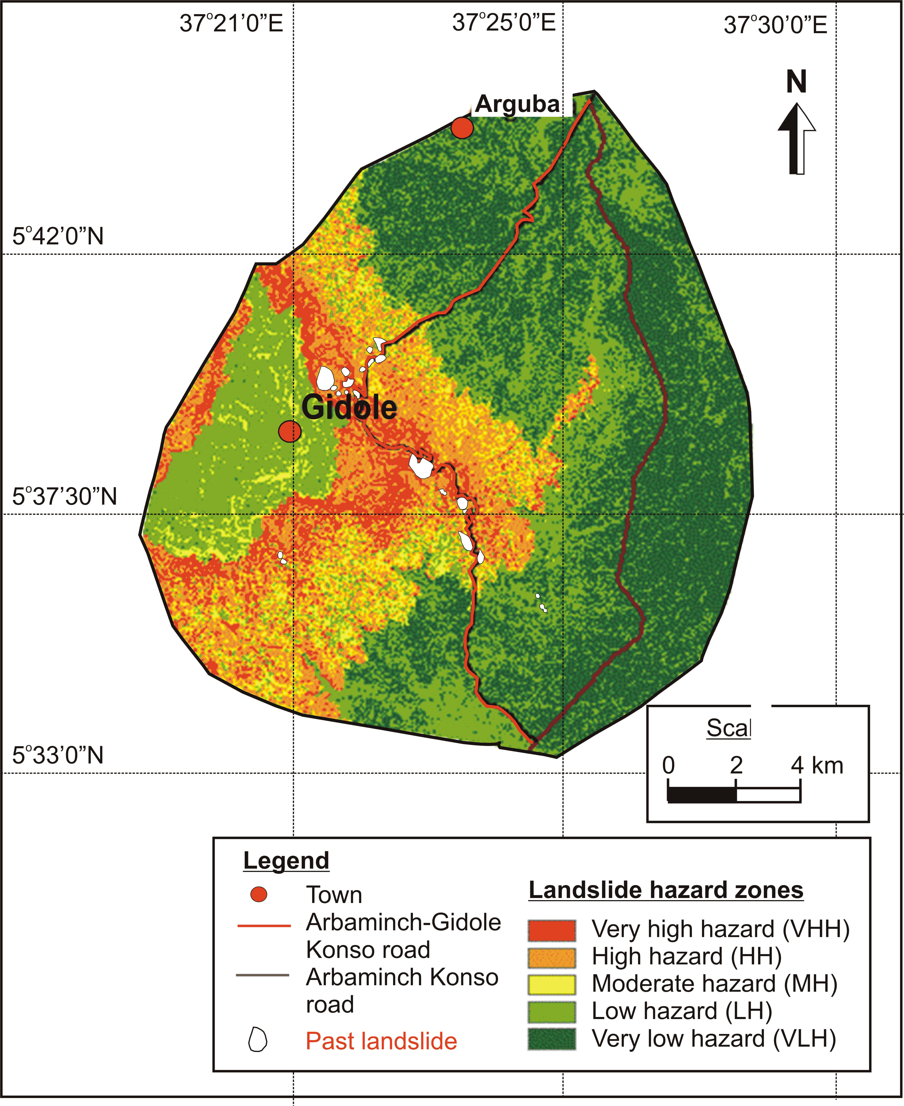 Landslide Hazard Zonation and Slope Instability Assessment using Optical and InSAR Data: A Case Study from Gidole Town and its Surrounding Areas Southern Ethiopia