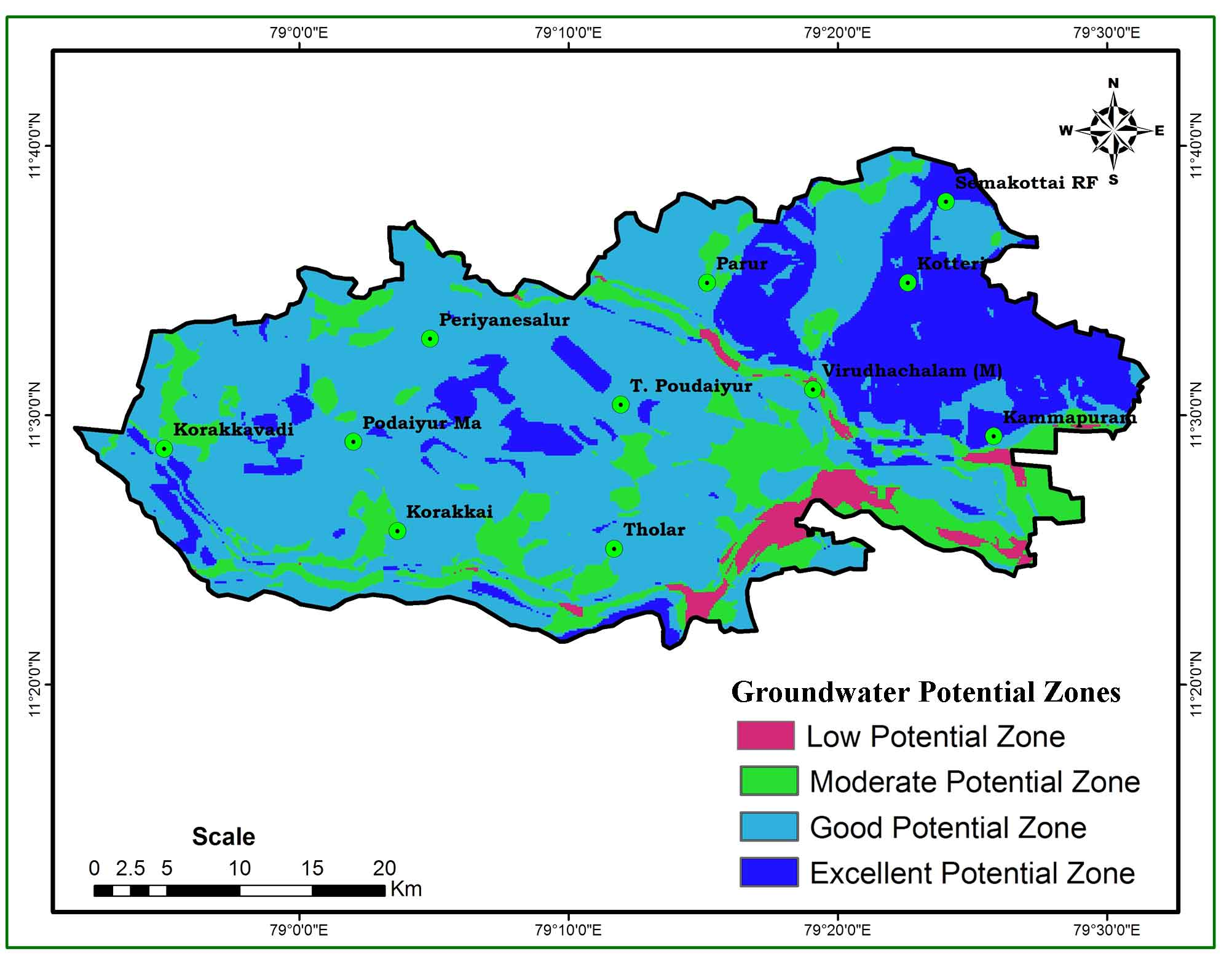 Groundwater Potentiality Mapping in Viruthachalam Taluk, Tamil Nadu, India: AHP and GIS Approaches