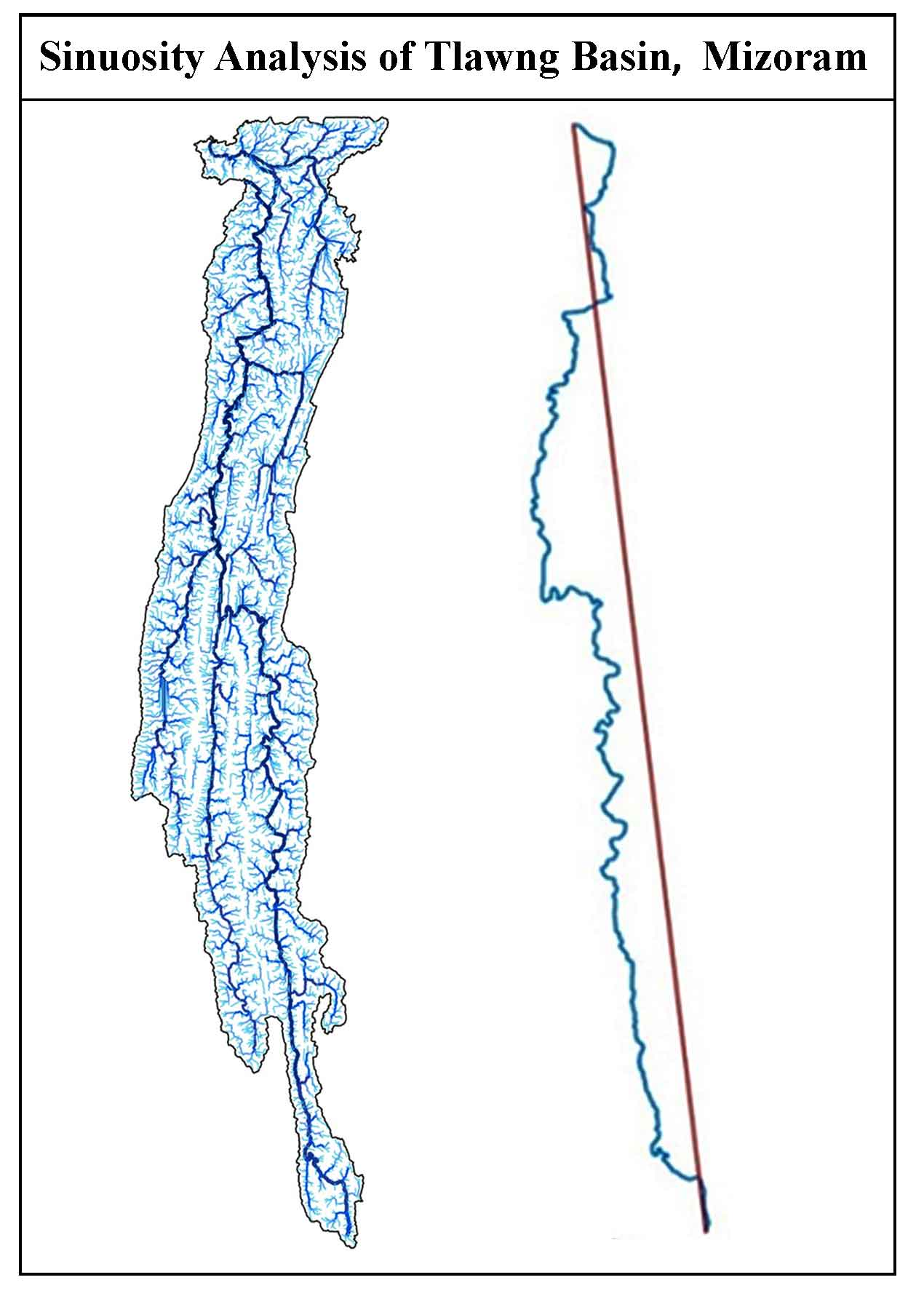 Morphometric and Sinuosity Analysis of Tlawng River Basin: A Geographic Information System Approach