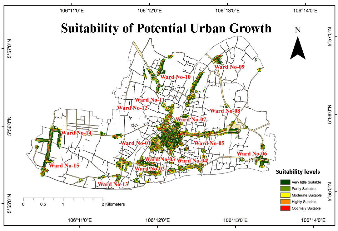 Sites Suitability Analysis of Potential Urban Growth in Pabna Municipality Area in Bangladesh: AHP and Geospatial Approaches