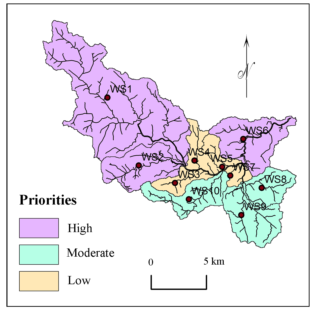 Multi-Criteria Watershed Prioritization of Kas Basin in Maharashtra India: AHP and Influence Approaches