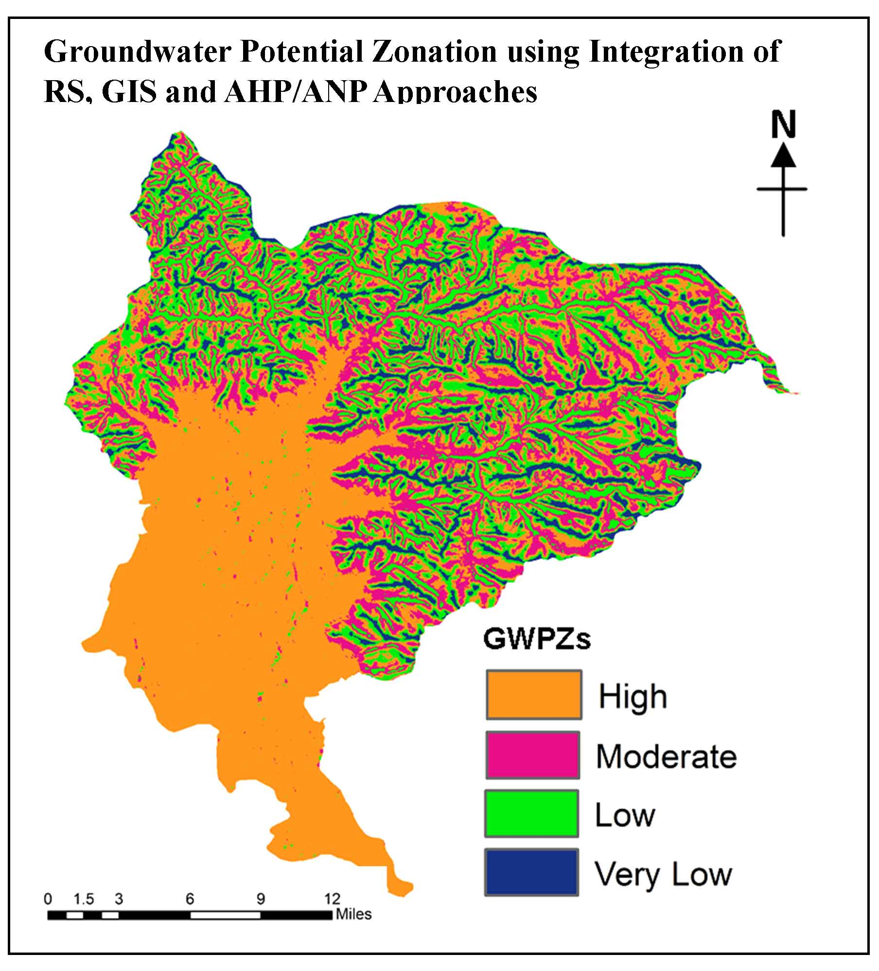 Groundwater Potential Zonation using Integration of Remote Sensing and AHP/ANP Approach in North Kashmir, Western Himalaya, India