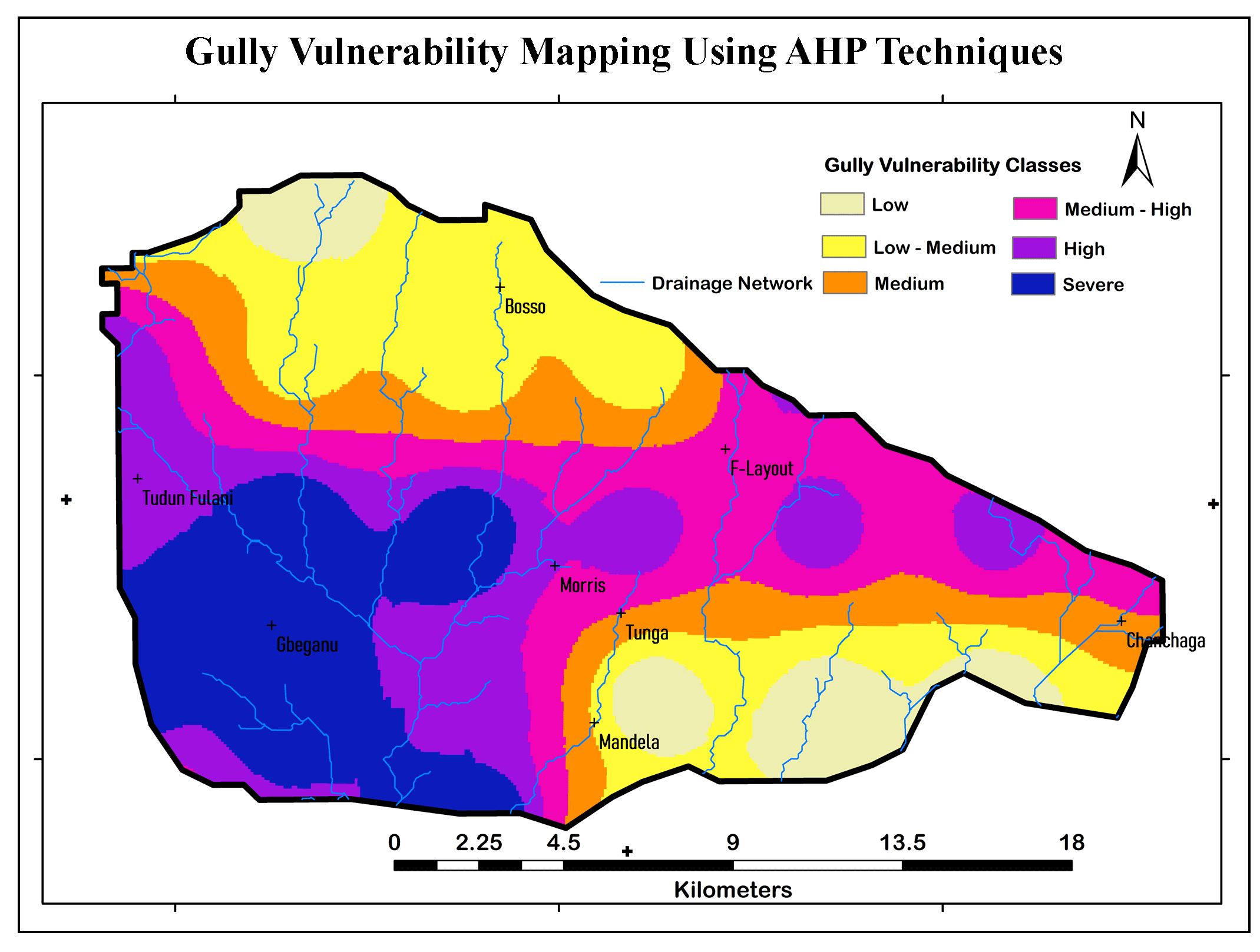 GIS-based MCDA for Gully Vulnerability Mapping Using AHP Techniques